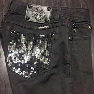 Black miss me skinny jeans size 26L